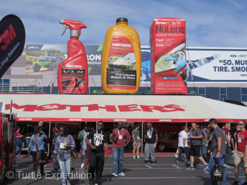 Mothers sponsored a box of cleaning products for every vehicle entered in the SEMA Show.