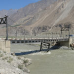 The bridge over the silt-laden Vanj had definitely seen better days.
