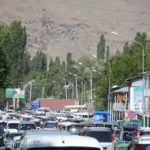 This is not a parking lot! It was market day in Khorog.
