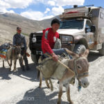 Burros seemed to be a preferred method of transportation in this remote region.