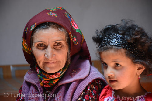 A lady from the village and her granddaughter were visiting Sheroz's grandmother.
