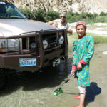 We had just started to wash the truck when this young girl walked into the water, took the brush from my hands and started to help. We were amazed.