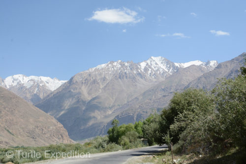 The Pamir Highway was finally better so we could enjoy some of the majestic views.