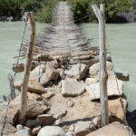 Was this rickety bridge made for people or just goats?
