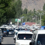 The market-day traffic in Khorog was not a welcome sight. Time to park the truck and walk.