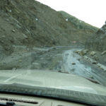The paved highway to Osh was super. OK, there were a few rock-falls. No big deal.