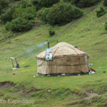 Yurts were common at higher elevations. This one may have been a rest stop of sorts.