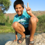 This young Kyrgyz welcomed us to his village.