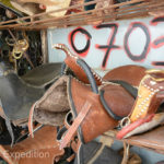 Being a horse country, there were plenty of beautiful saddles for sale.