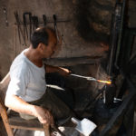 It was interesting to see real blacksmiths working the metal the old traditional way without machinery.