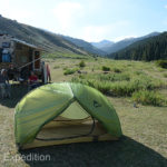 Our light-weight two-man MSR tent was perfect for our Chinese guide. She would spend many nights in it on our way across China.