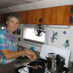Monika whips up one of her delicious one-pot meals. Looks like chicken stew for dinner.
