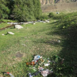 Kyrgyz picnickers all seem to leave their garbage behind.