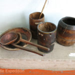 The Regional Museum in Kochkor had some interesting artifacts from kitchen tools to grinders to riding saddles and horse packing saddles.
