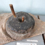 We found this type of grinding wheel all over Central Asia.