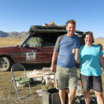 This British couple was really roughing it. They had taken part in the Central Asian Rally driving from Europe to Russia, Kazakhstan, Uzbekistan, Tajikistan, Kyrgyzstan.