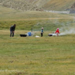 A Kyrgyz family near where we camped was preparing a major picnic.