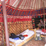 The interior of these home-stay yurts were beautifully decorated and looked very comfortable.