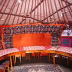 This was the communal yurt at Sabrybek's Yurt Camp in Tash Rabat where guests gather and eat their meals.