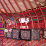 The handy bags were hung very conveniently to store little items. Blankets and other souvenirs were also available.