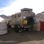 We parked our yurt next to the others for comparison.