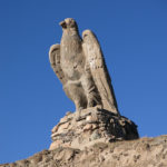 This stone eagle watched over us as we headed south.