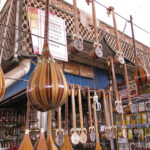 One shop had a wonderful selection of Uyghur musical instruments.