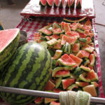 Sweet watermelon. Try a piece if you like.