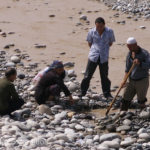 Locals were busy searching for what seemed like an endless supply of jade in the White Jade River.