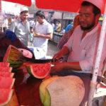 Sweet watermelon was in season.