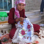 Some women were busy embroidering gorgeous wall hangings and tablecloths.