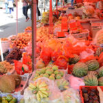 The produce section of the market had the usual grand selection of vegetables and fruit.