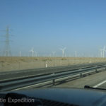At times, we passed a windmill farm and power lines seemed to go from no where to know where.....