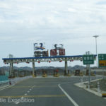 Oh Boy! Another tollgate. Gave us a chance to take a break and see what our traffic was going to be like.
