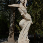 This lovely statue adorned the gardens.