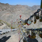 Lovers sealed their vows with a small padlock on the chain handrail, and presumably threw the keys into the canyon below.