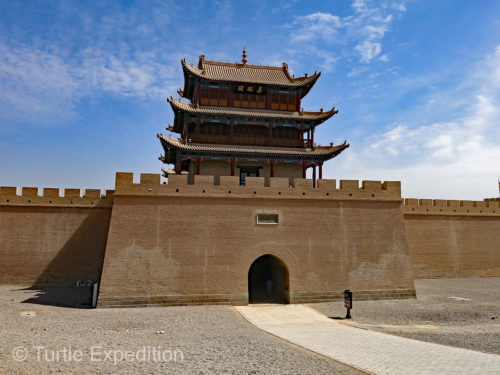 Leaving the West Gate entrance, the caravans headed for the treacherous Gobi and Taklamakan Deserts.