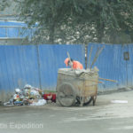 If you can't find work, the Chinese government employs you as a street cleaner.