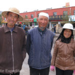 Locals were surprised to see foreigners in their town but were happy to pose for a quick photo.