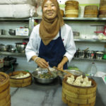 Little meat-filled dumplings were this woman's specialty.