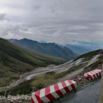 We serpentined up a long set of switchbacks to this lofty pass, 12,089 ft, (3,685 m)