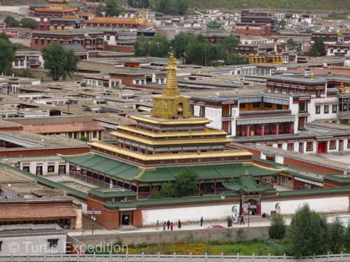 While founded in 1709 and expanded greatly in the following centuries, much of the Labrang monastery was destroyed during the Cultural Revolution but then rebuilt from the 1980's onward.