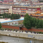 A close-up of the Labrang monastic university.