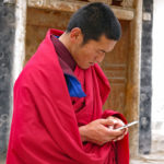 "Oh yes, cell phones are very popular among monks of all ages. Not sure where the ""giving up wordly""possessions figures into this arena."
