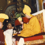We think this is his Highness, the Dalai Lama who belongs to the Yellow Hat sect. (downloaded from the internet)
