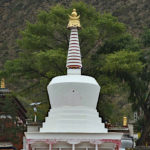 This towering white stupa had special meaning. Pilgrims were walking around it in prayer.
