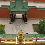 Views into the courtyard from the golden pagoda.