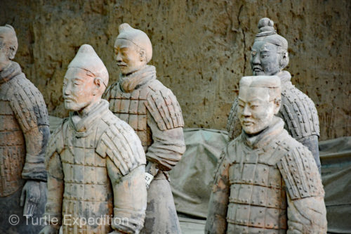 Did the artists model these soldiers from real people or was it their artistic ability to create so many different looking statues?