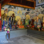 Adding to the complexity of the Buddhist religion, there were many different Buddha figures inside the temple.