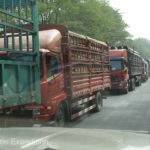 Fortunately the heavy truck traffic was going the other way.